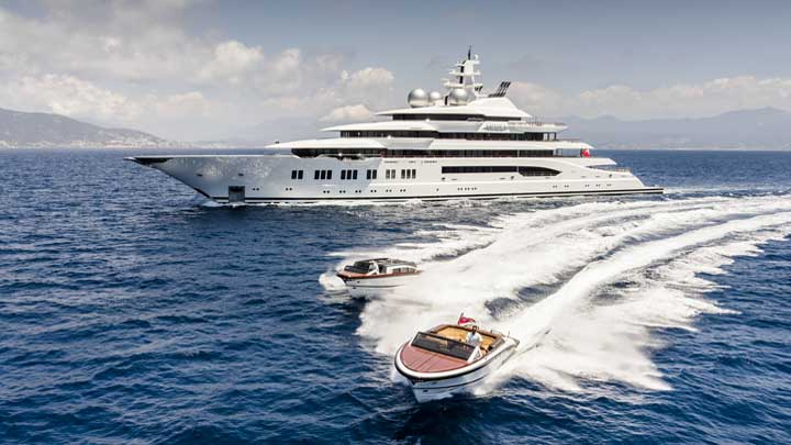 the megayacht Amadea was built by Lusen and has been highly confidential