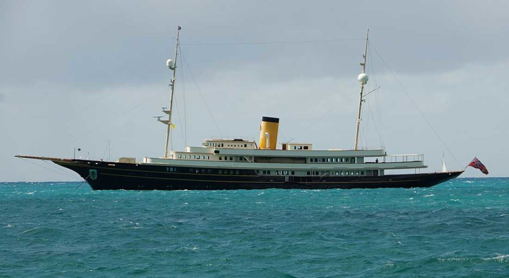 the classic replica megayacht Nero in 2015