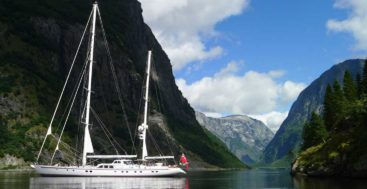 the sailing superyacht ketch in Norway: Royal Huisman's Juliet