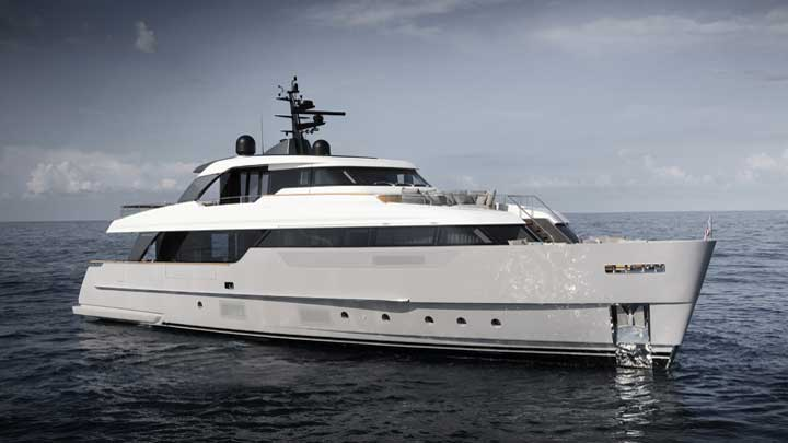 the Sanlorenzo SD96 megayacht features interior design by Patricia Urquiola