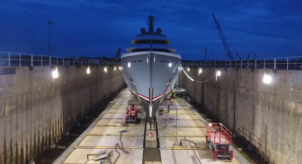 Savannah Yacht Center is a superyacht refit yard