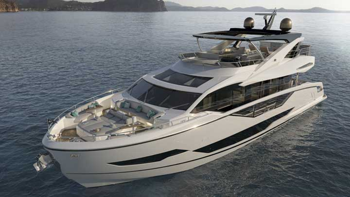 the Sunseeker 87 Yacht was previously known as the megayacht Project 8X