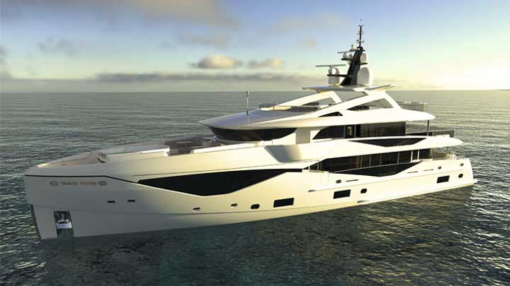 the Sunseeker 133 Yacht is a new superyacht
