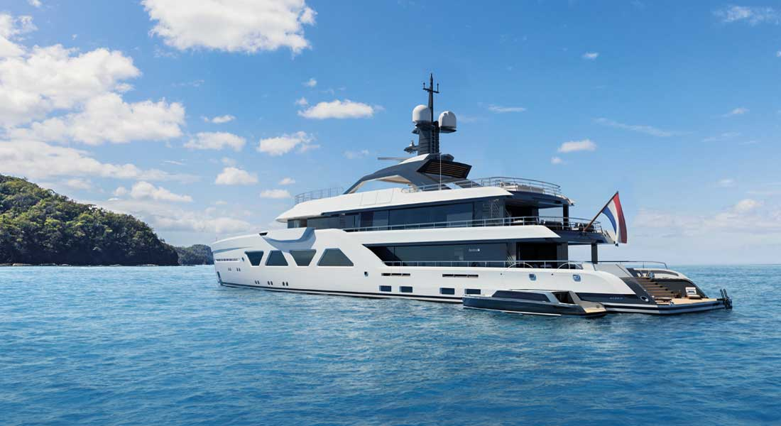 the Amels 60 is Amels' first hybrid superyacht