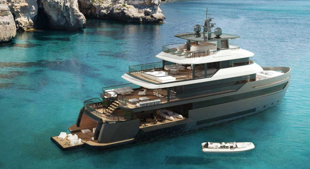 the Benetti B.Yond superyacht series features steel hulls