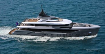 the Bilgin 50M is a spec megayacht project