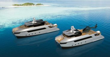 the 27M Catamaran Motoryachts and Shadow Vessels join Echo Yachts' superyacht Design Collection