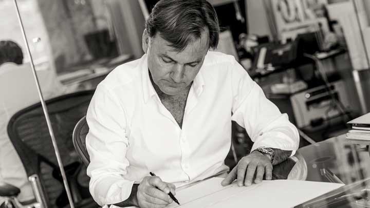 Espen Øino has designed Amels' first hybrid superyacht, the Amels 60