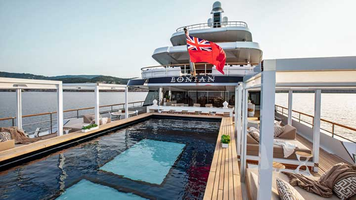 the superyacht Lonian saw delivery from Feadship in 2018