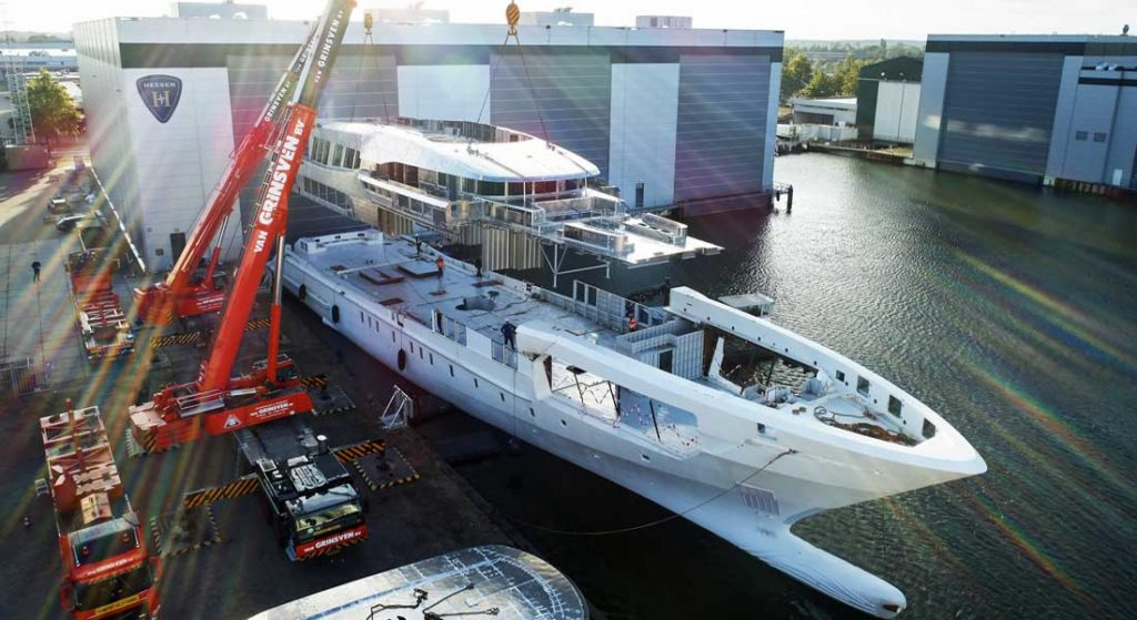 Heesen's Project Falcon megayacht is on track for delivery in 2021