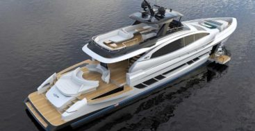 the Lazzara LSY 95 is a new megayacht design