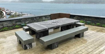 the Origin fire pit table by Studio Celiberti suits superyachts and fine homes
