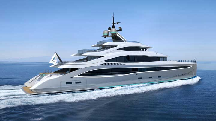 Lyra is a concept megayacht from Turquoise Yachts