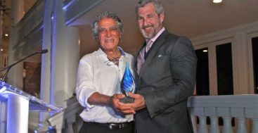 Amos Nachoum received honors at the International SeaKeepers Society 2019 Founders Event, attended by superyacht owners and crew
