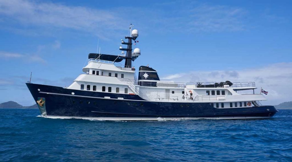 the superyacht Asteria is chartering in Greenland in summer 2020
