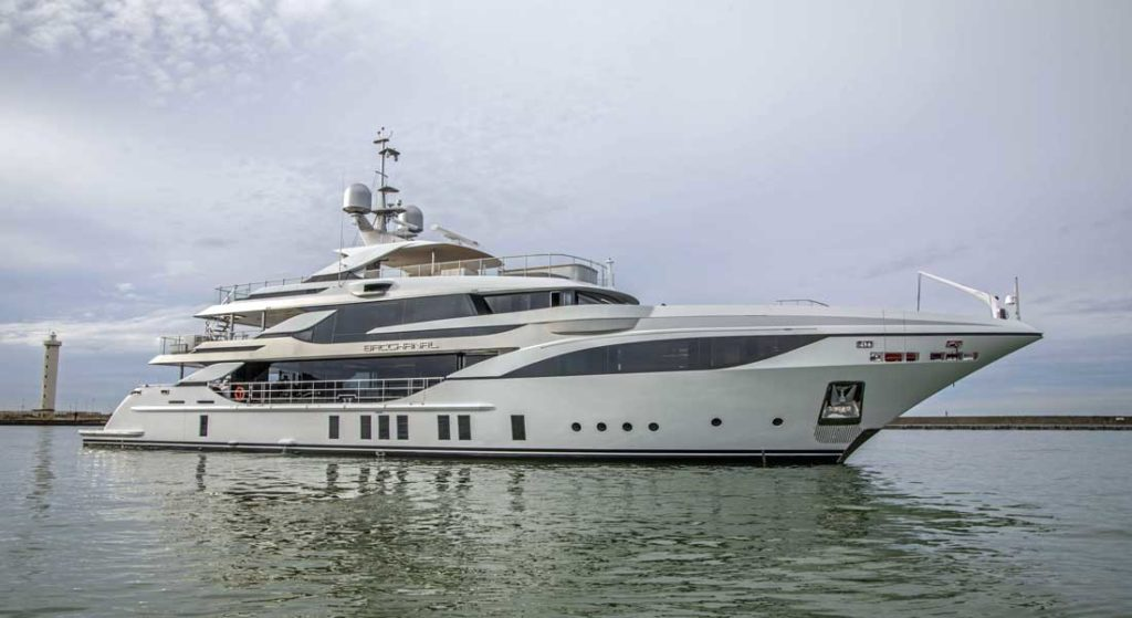 the Benetti Bacchanal megayacht was delivered in November 2019
