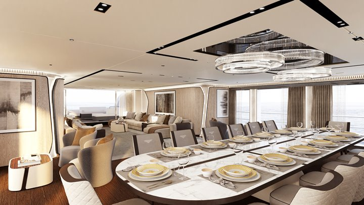 the CRN 138 superyacht sees delivery in 2021