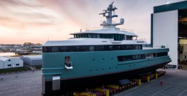 the first Damen SeaXplorer superyacht measures 203 feet, or 62 meters