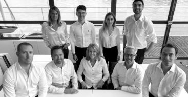 the Harrison Eidsgaard superyacht design studio team includes Ben Harrison