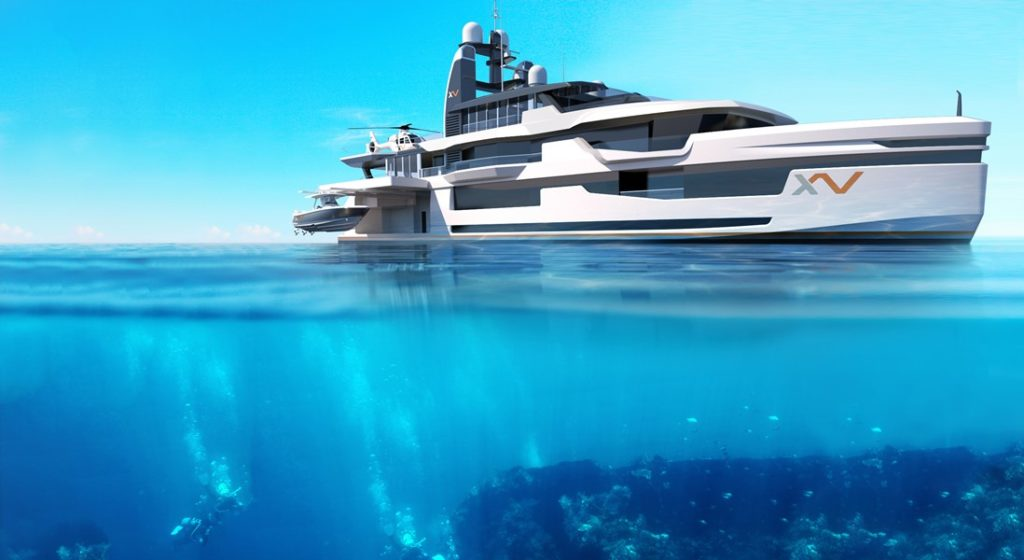 Xventure from Heesen and Winch Design is an adventure superyacht with unusual features
