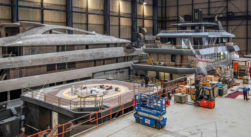 the megayacht Project Ragnar should be ready in 2021