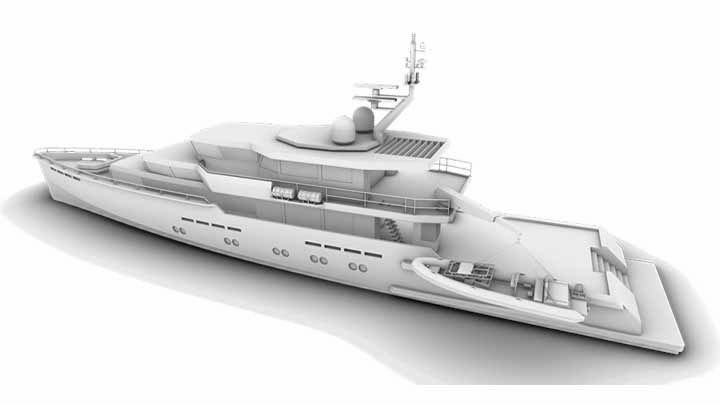 the MMX45 megayacht design is for large-scale expeditions