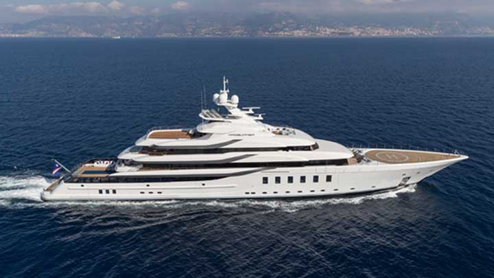 the superyacht Madsummer from Lurssen is for a repeat customer