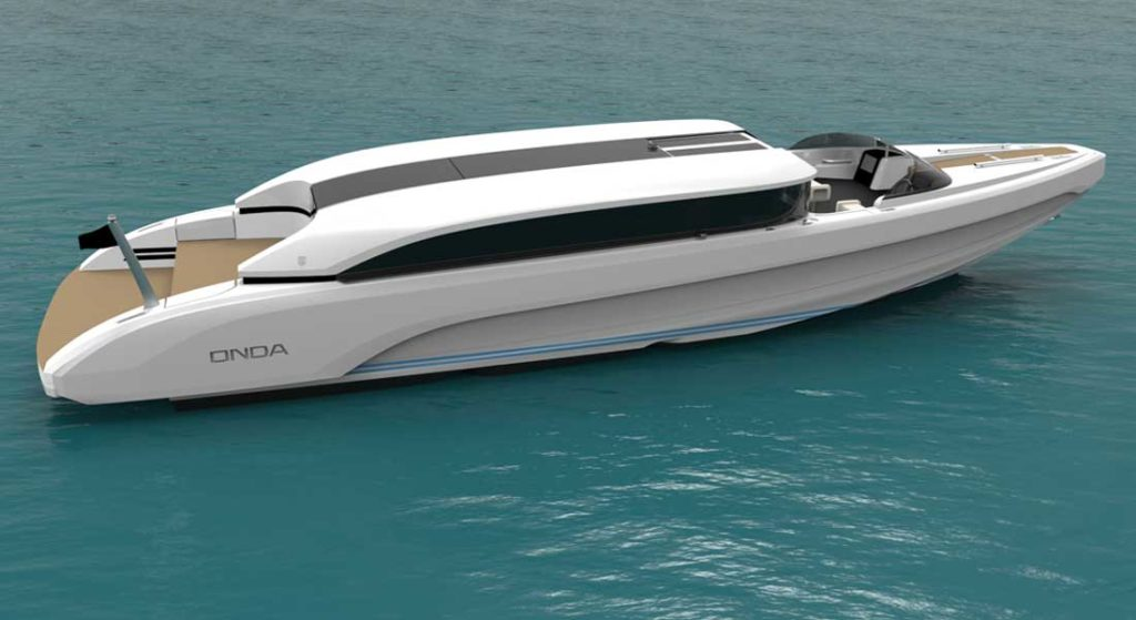 the Onda 321L limousine tender is being customized for a 95-meter superyacht