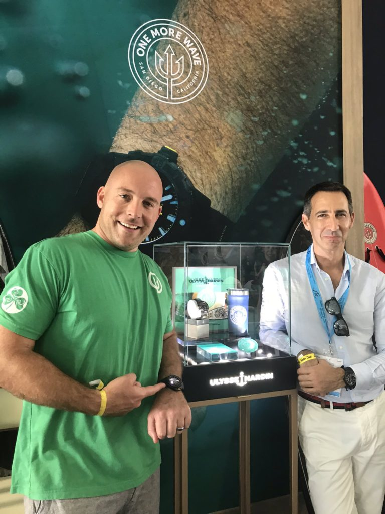 One More Wave CEO Kyle Buckett and the Ulysse Nardin watch he designed
