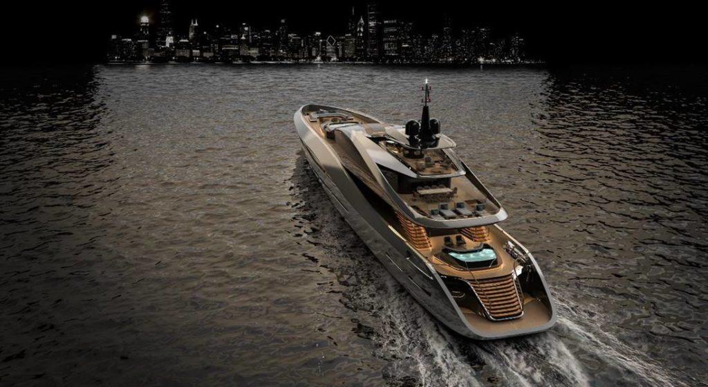 the Rossinavi Super Sport 65 is a Pininfarina megayacht design
