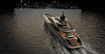the Rossinavi Super Sport 65 is a Pininfarina megayacht design