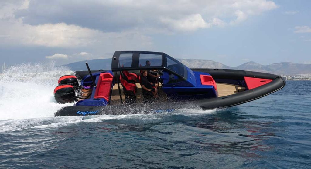 the Roughneck 1010 RIB is designed by the superyacht specialists Mulder Design