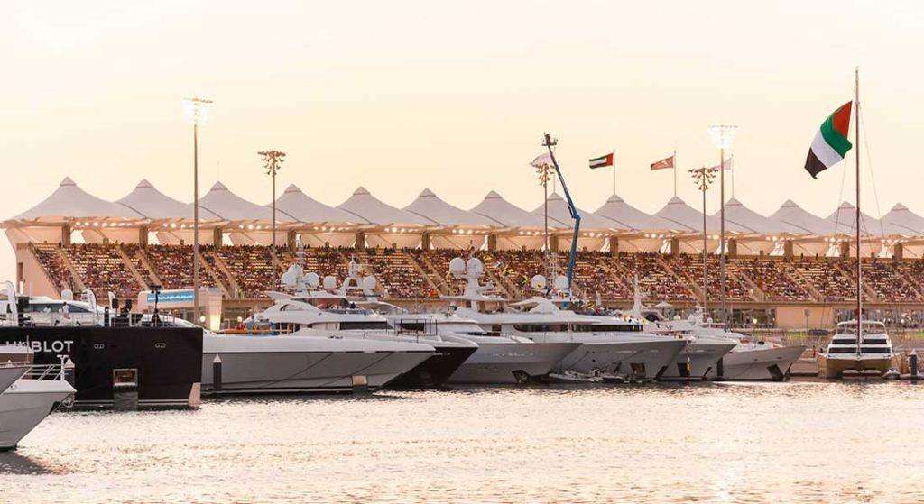 megayacht spotting is possible at the Abu Dhabi Grand Prix at Yas Marina