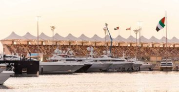 megayacht spotting is possible at the Abu Dhabi Grand Prix at Yas Marina