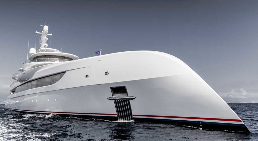 the megayacht Excellence fulfills many visions for her owner, Herb Chambers