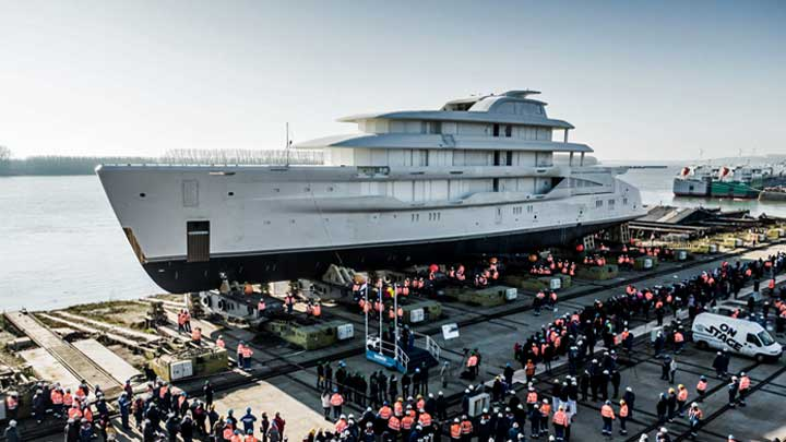 the Amels 78-meter Full Custom superyacht will be ready in 2021