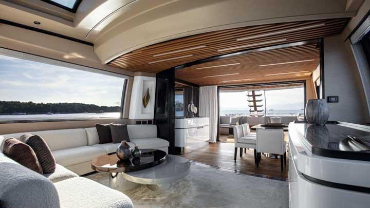the Azimut Grande S10 megayacht is the Azimut flagship