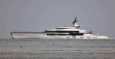 seeing the superyacht Bravo Eugenia in London caught plenty of people by surprise