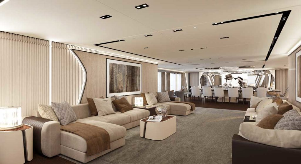CRN M/Y 138 interior design discussed by the two megayacht's designers