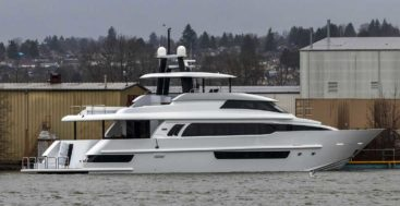 the Crescent 117 megayacht launched in December