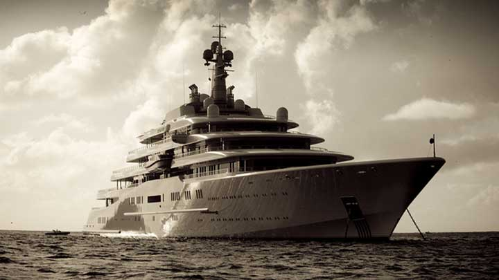 Eclipse is among the 10 largest megayacht deliveries of the decade