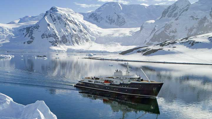 superyacht-based skiing expeditions await thanks to EYOS Expeditions and the yacht Legend