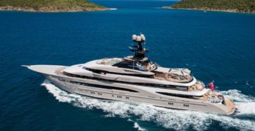 the superyacht Kismet in the movie 6 Underground has people excited