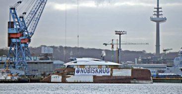 Black Shark superyacht is shaping up at Nobiskrug