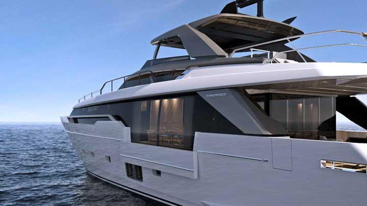 the Sanlorenzo SL96 Asymmetric is a megayacht with one side deck