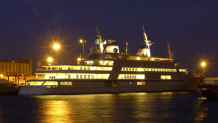 Sultan Qaboos bin Said owned the superyacht Al Said