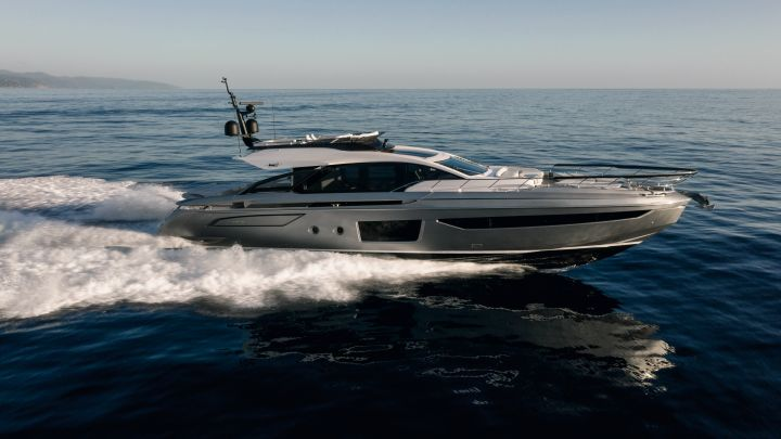 the Azimut S8 is a nearly 81-foot megayacht