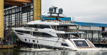 Ink is the first megayacht in the Benetti Diamond 145 series