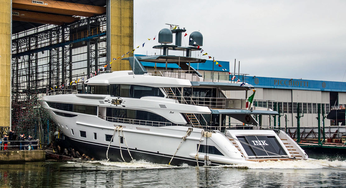 Ink, First Diamond 145, Hits the Water at Benetti
