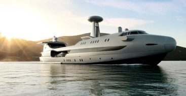 the Codecasa Jet 2020 is a megayacht with aviation styling cues